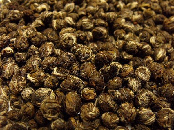 画像1: 【お試し茶】ジャスミン茶(茉莉白龍珠)5g (1)